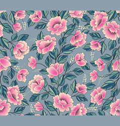 floral background flower rose bouquet seamless vector image