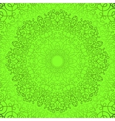 Green Circle Lace Doily Pattern vector image
