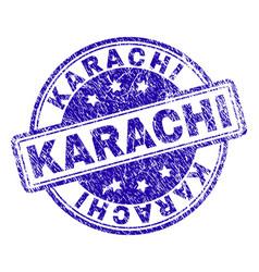 Grunge textured karachi stamp seal vector