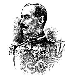 Haakon vii vintage vector
