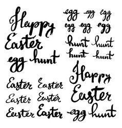 Happy easter egg hunt strokes written in thick vector