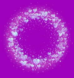hearts valentine wreath gold glitter pattern vector image