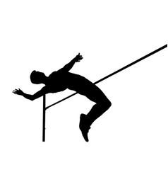 High jump athlete jumper vector