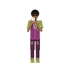 isolated of African American man dark vector image