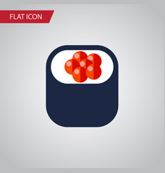 isolated sashimi flat icon eating element vector image
