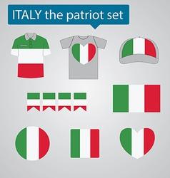 Italy the patriot set vector