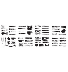 korean chinese japanese ink brush strokes blots vector image