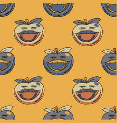 laughing apple seamless pattern vector image