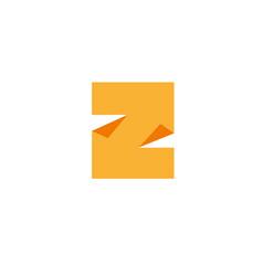 letter z logo design template elements paper vector image