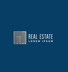 linear real estate abstract sign symbol or vector image