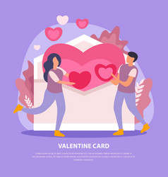 love couple flat card vector image