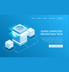 mainframe powered server high technology concept vector image