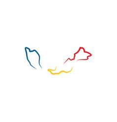 Malaysia map icon logo symbol element vector
