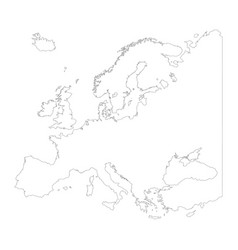 map of europe outline design isolate on white vector image
