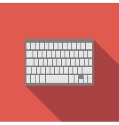 Modern keyboard flat icon vector