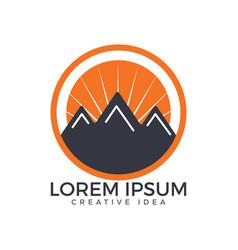 mountains logo design vector image