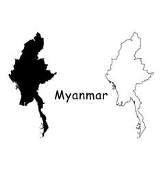 Myanmar map vector