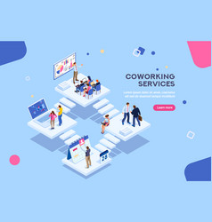 office concept with characters vector image