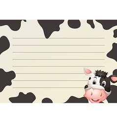 Paper design with cow and skin vector