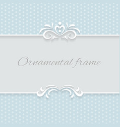 Paper lace frame with seamless borders over vector image