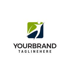 People healty logo design concept template vector