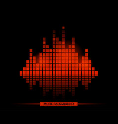 red music mosaic background in style vector image
