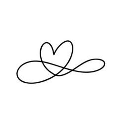 Romantic monoline infinity calligraphy vector
