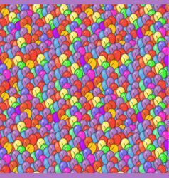 seamless abstract pattern with billion balloons vector image