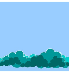 seamless clouds on the sky vector image