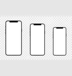 Set newly released iphone 12 vector
