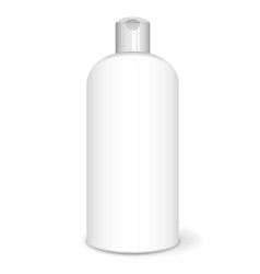 shampoo bottle white vector image