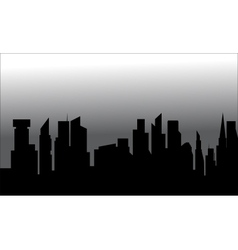 Silhouette of city with tall building vector