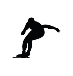 skating man silhouette vector image