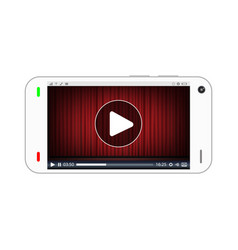 smartphone playing a streaming video vector image