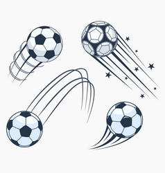 soccer football moving swoosh elements dynamic vector image