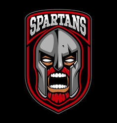 spartan warrior logo design vector image