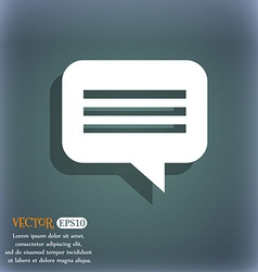 Speech bubble Chat think icon symbol on the vector
