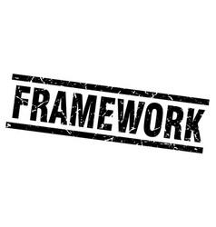Square grunge black framework stamp vector