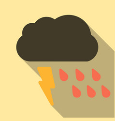 Storm icon in trendy flat style isolated on color vector