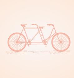 Tandem Bike vector image