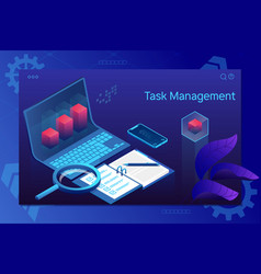 task management insurance project management vector image