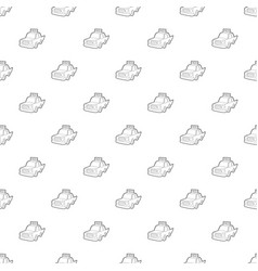 taxi pattern seamless vector image