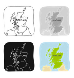 territory of scotland icon in cartoon style vector image