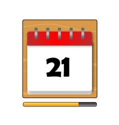 The Twenty-one days on the calendar vector