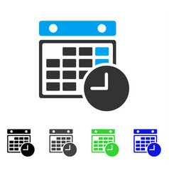 Time table flat icon vector