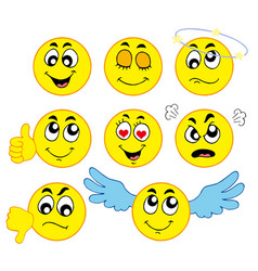various smileys 1 vector image