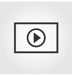 Video player icon flat design vector