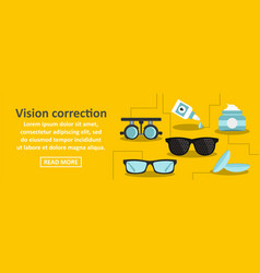 Vision correction banner horizontal concept vector