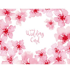 Watercolor flowers for the holiday vector