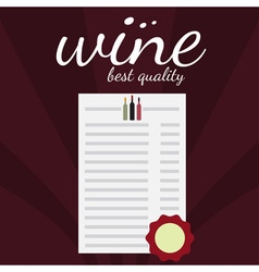 flat design of wine theme vector image vector image